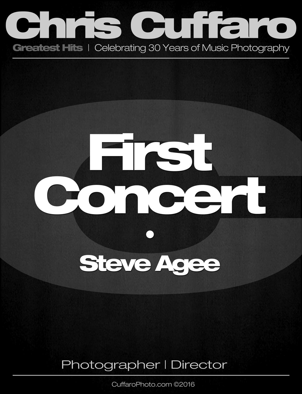 First Concert: Steve Agee