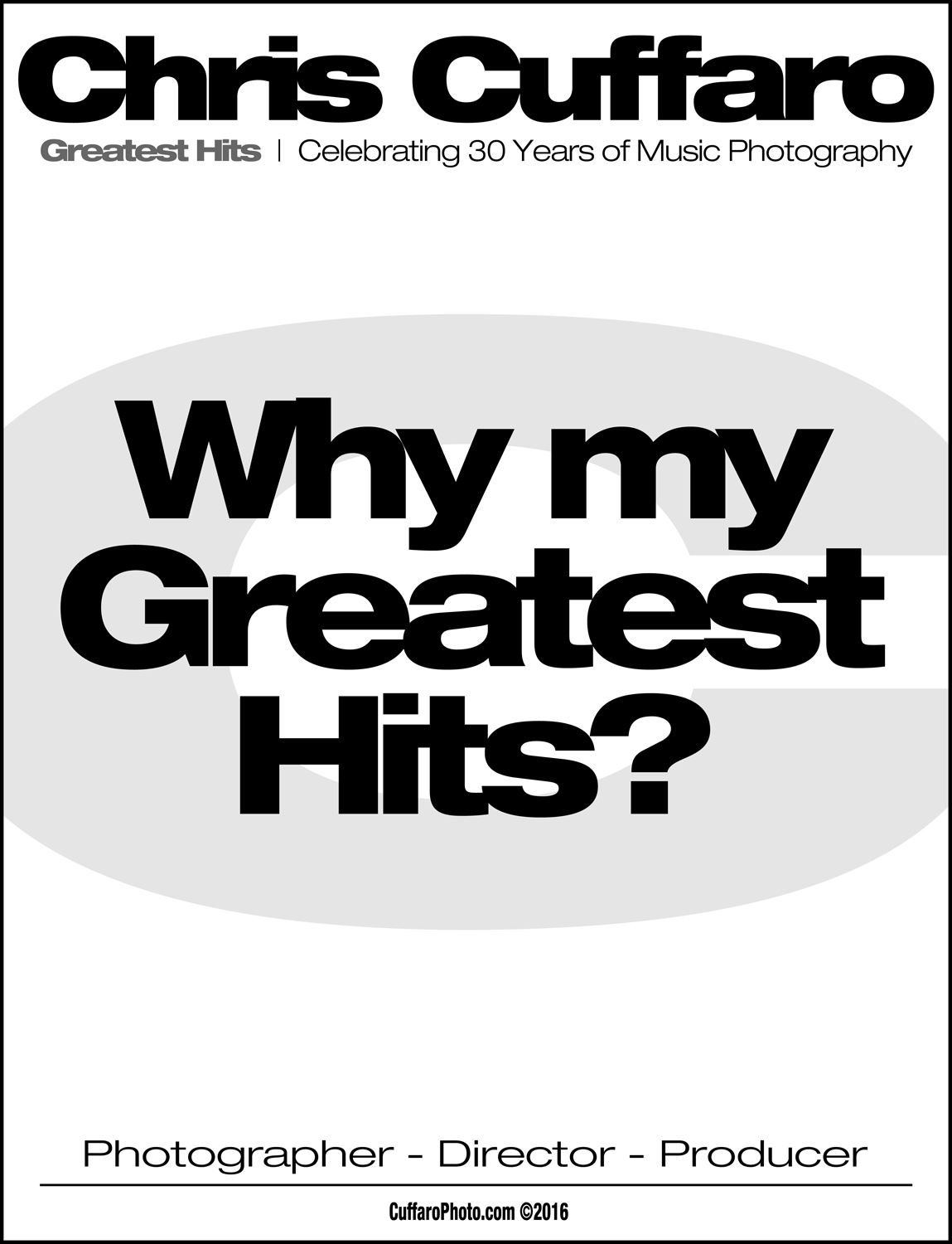 Why my Greatest Hits?